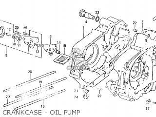 Honda C50lae england Crankcase - Oil Pump