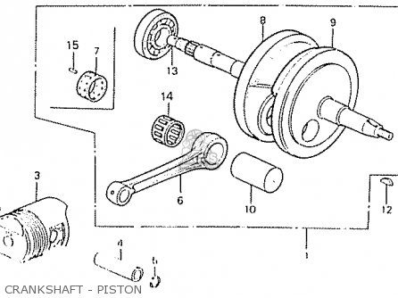 Honda C50lae england Crankshaft - Piston