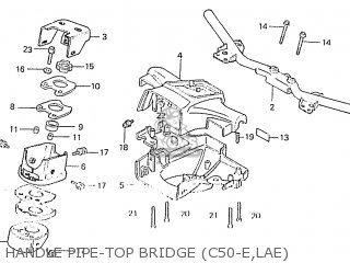 Honda C50lae england Handle Pipe-top Bridge c50-e lae
