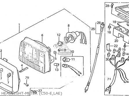 Honda C50lae england Headlight-meter c50-e lae