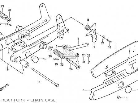 Honda C50lae england Rear Fork - Chain Case