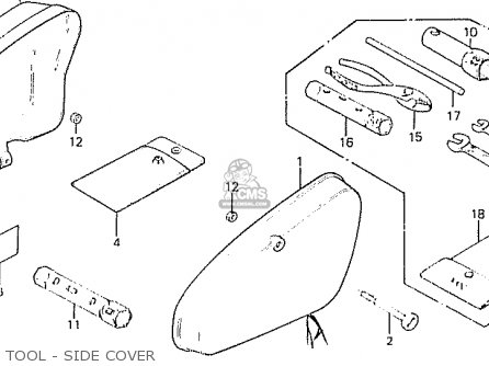 Honda C50lae england Tool - Side Cover