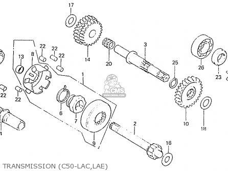 Honda C50lae england Transmission c50-lac lae
