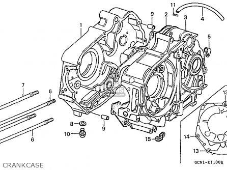 Honda C50lm Little Cub 1999 x Japan Crankcase