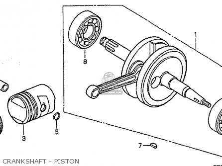Honda C50lm Little Cub 1999 x Japan Crankshaft - Piston