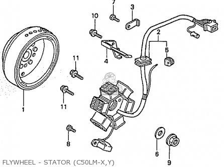 Honda C50lm Little Cub 1999 x Japan Flywheel - Stator c50lm-x y