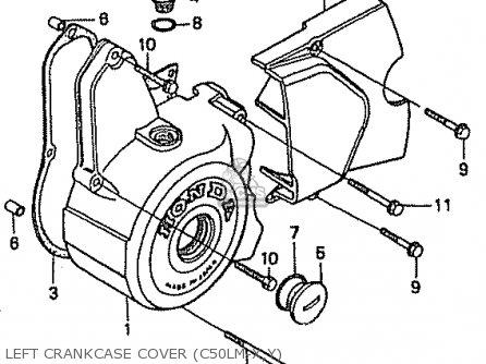 Honda C50lm Little Cub 1999 x Japan Left Crankcase Cover c50lm-x y