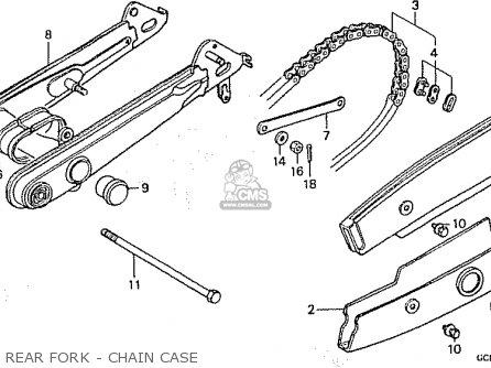 Honda C50lm Little Cub 1999 x Japan Rear Fork - Chain Case