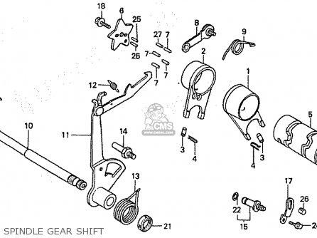 Honda C50lm Little Cub 1999 x Japan Spindle Gear Shift