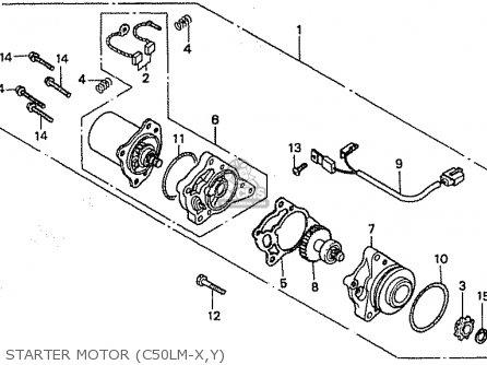 Honda C50lm Little Cub 1999 x Japan Starter Motor c50lm-x y