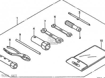 Honda C50lm Little Cub 1999 x Japan Tool Set