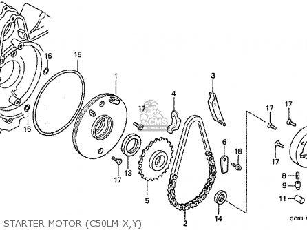 Honda C50lmx Little Cub japan Starter Motor c50lm-x y