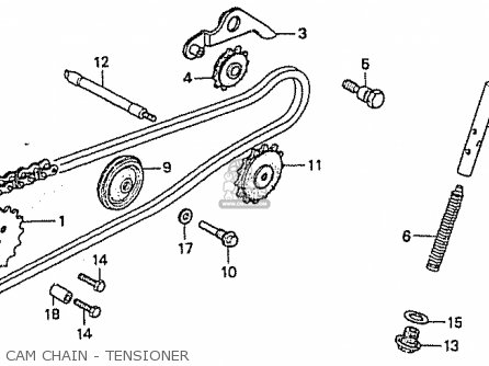 Honda C50ly Little Cub japan Cam Chain - Tensioner