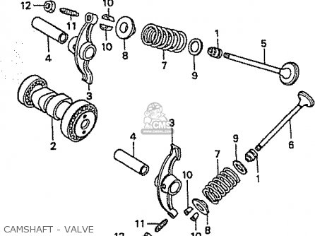 Honda C50ly Little Cub japan Camshaft - Valve