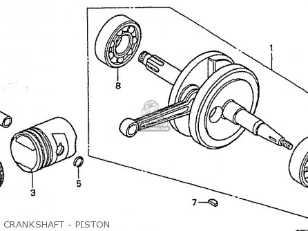 Honda C50ly Little Cub japan Crankshaft - Piston