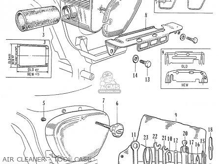 Honda C70 C71 Cs71 1958 1959 1960 Dream General Export 142532 Air Cleaner - Tool Case