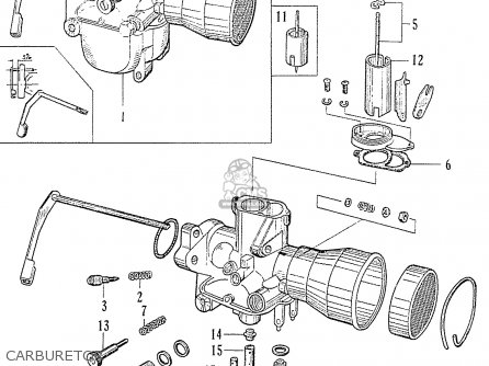 Honda C70 C71 Cs71 1958 1959 1960 Dream General Export 142532 Carburetor