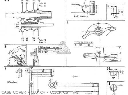 Honda C70 C71 Cs71 1958 1959 1960 Dream General Export 142532 Case Cover - Clutch - Click Cs Type
