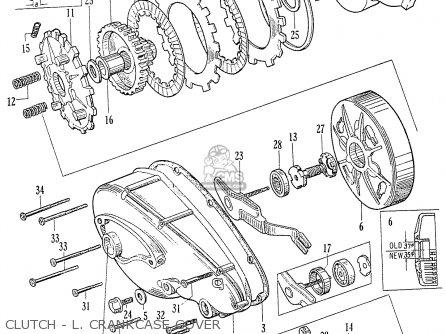 Honda C70 C71 Cs71 1958 1959 1960 Dream General Export 142532 Clutch - L  Crankcase Cover