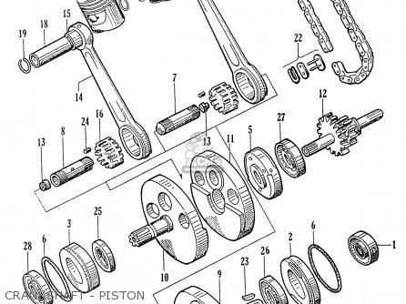 Honda C70 C71 Cs71 1958 1959 1960 Dream General Export 142532 Crankshaft - Piston