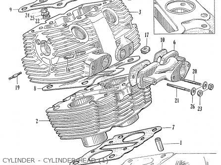 Honda C70 C71 Cs71 1958 1959 1960 Dream General Export 142532 Cylinder - Cylinder Head 1