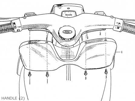 Honda C70 C71 Cs71 1958 1959 1960 Dream General Export 142532 Handle 2