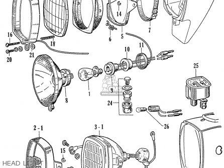 Honda C70 C71 Cs71 1958 1959 1960 Dream General Export 142532 Head Light