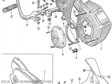 Honda C70 C71 Cs71 1958 1959 1960 Dream General Export 142532 Kick - R  Crankcase Cover