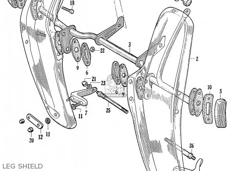 Honda C70 C71 Cs71 1958 1959 1960 Dream General Export 142532 Leg Shield