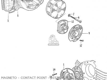 Honda C70 C71 Cs71 1958 1959 1960 Dream General Export 142532 Magneto - Contact Point - Distributor
