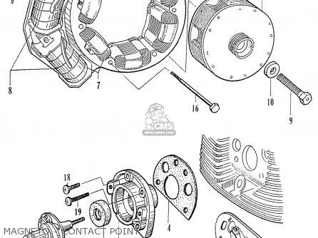 Honda C70 C71 Cs71 1958 1959 1960 Dream General Export 142532 Magneto - Contact Point
