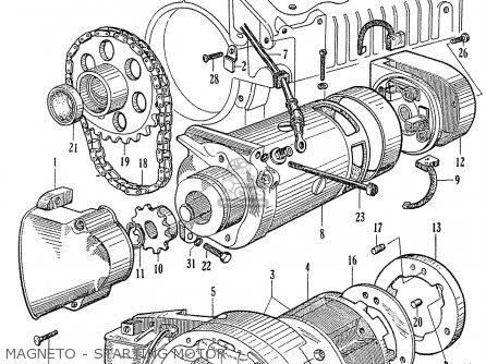 Honda C70 C71 Cs71 1958 1959 1960 Dream General Export 142532 Magneto - Starting Motor