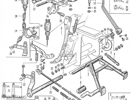 Honda C70 C71 Cs71 1958 1959 1960 Dream General Export 142532 Main Stand