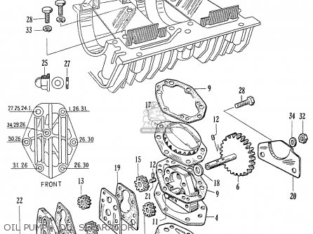 Honda C70 C71 Cs71 1958 1959 1960 Dream General Export 142532 Oil Pump - Oil Separator