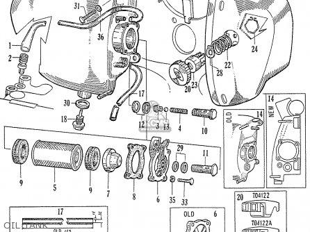 Honda C70 C71 Cs71 1958 1959 1960 Dream General Export 142532 Oil Tank