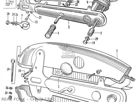 Honda C70 C71 Cs71 1958 1959 1960 Dream General Export 142532 Rear Fork - Chain Case