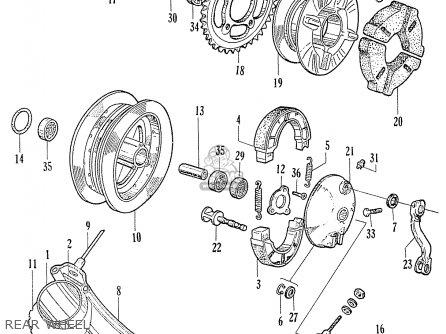 Honda C70 C71 Cs71 1958 1959 1960 Dream General Export 142532 Rear Wheel
