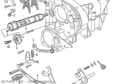 Honda C70 C71 Cs71 1958 1959 1960 Dream General Export 142532 Return Type - Gear Change