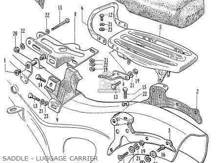 Honda C70 C71 Cs71 1958 1959 1960 Dream General Export 142532 Saddle - Luggage Carrier