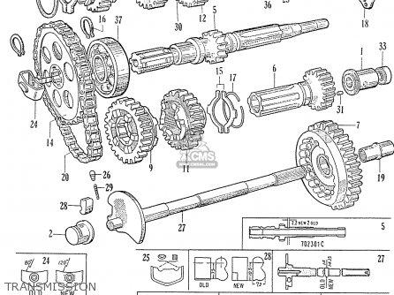 Honda C70 C71 Cs71 1958 1959 1960 Dream General Export 142532 Transmission