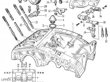 Honda C70 C71 Cs71 1958 1959 1960 Dream General Export 142532 Upper Crankcase
