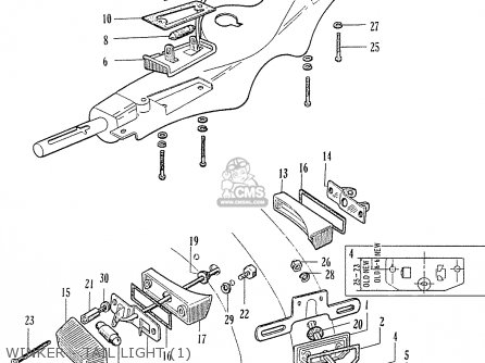 Honda C70 C71 Cs71 1958 1959 1960 Dream General Export 142532 Winker - Tail Light 1