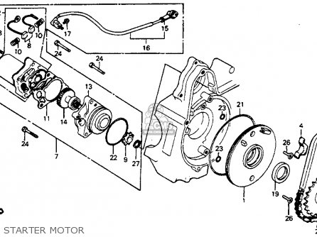 Partslist on 1982 Honda C70 Passport Parts
