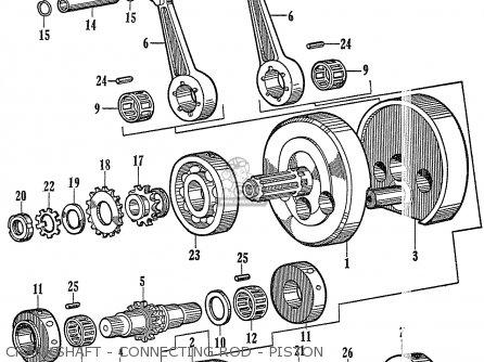 Honda C72 1960 1961 1962ii 1963 Dream 142592 Crankshaft - Connecting Rod - Piston