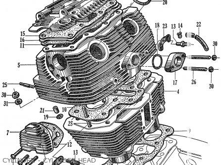 Honda C72 1960 1961 1962ii 1963 Dream 142592 Cylinder - Cylinder Head