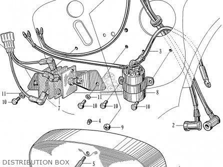 Honda C72 1960 1961 1962ii 1963 Dream 142592 Distribution Box