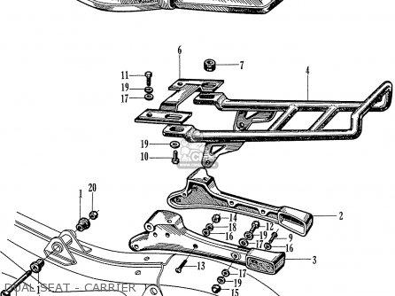 Honda C72 1960 1961 1962ii 1963 Dream 142592 Dual Seat - Carrier