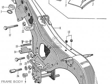 Honda C72 1960 1961 1962ii 1963 Dream 142592 Frame Body