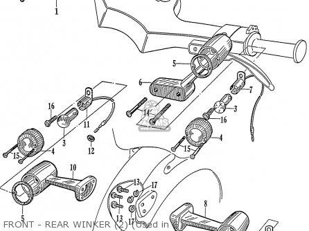 Honda C72 1960 1961 1962ii 1963 Dream 142592 Front - Rear Winker 2 used In G
