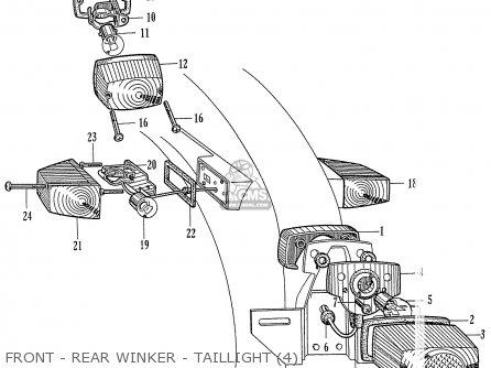 Honda C72 1960 1961 1962ii 1963 Dream 142592 Front - Rear Winker - Taillight 4
